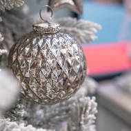 The Noel Collection Silver Large Honeycomb Bauble - Thumb 3