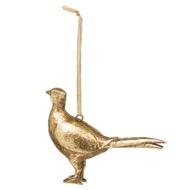 Hanging Gold Pheasant Ornament - Thumb 1