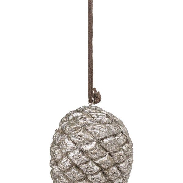 Hanging Silver Pinecone - Thumb 2