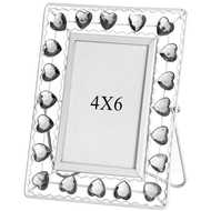 4  X  6  White  Diamante  Photo  Frame
