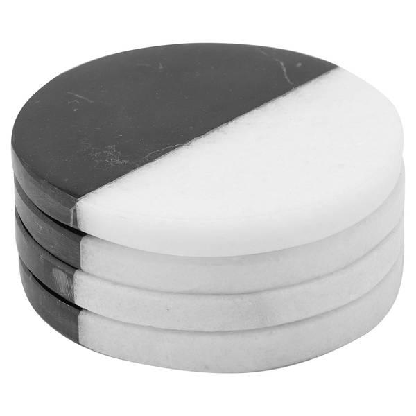Set Of 4 Marble Coasters