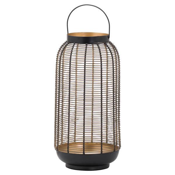 Large Black Glowray Wire Lantern
