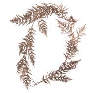 Antique Bronze Faux Fern Garland