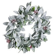 Large Frosted Candle Wreath - Thumb 1