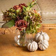 Autumnal Arrangement In Glass Vase