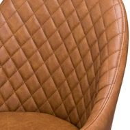 Stockholme Chequered Tan Dining Chair - Thumb 2