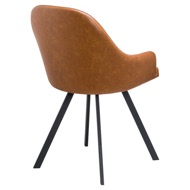 Stockholme Chequered Tan Dining Chair - Thumb 3