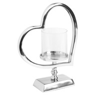 Heart Shaped Nickel Candle Holder - Thumb 1