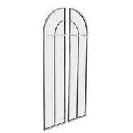 Antique Silver Arch Window Mirror Set - Thumb 1