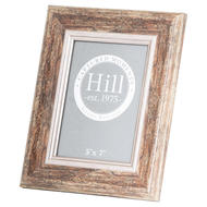 Distressed Wood With Silver Bevel  5X7 Photo Frame