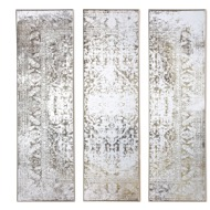 Antiqued Etched Trio Of Wall Mirrors