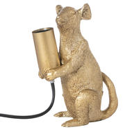 Marvin The Mouse Gold Table Lamp - Thumb 1
