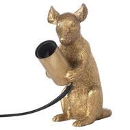 Milton The Mouse Gold Table Lamp - Thumb 1