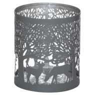 Small Silver And Grey Glowray Stag In Forest Lantern - Thumb 1