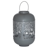 Medium Silver And Grey Glowray Dome Forest Lantern