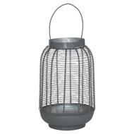Medium Silver And Grey Glowray Wire Lantern
