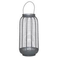 Large Silver And Grey Glowray Wire Lantern