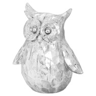 Olive The Large Silver Ceramic Owl