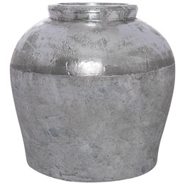Metallic Dipped Large Juniper Vase