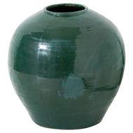 Garda Emerald Glazed Regola Vase