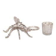 Silver Dragonfly Tealight Holder - Thumb 4