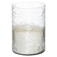 Lustre Silver Cylindrical Candle Holder