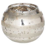 Ribbed Lustre Small Candle Holder