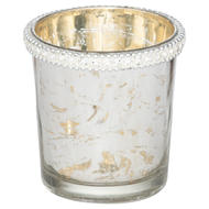 The Lustre Collection Embellished Small Top Tea Light Holder
