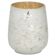 The Noel Collection White Star Medium Candle Holder