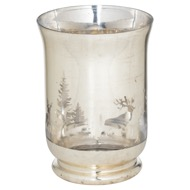 The Noel Collection Silver Forest Large Candle Holder