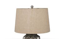 Acantho Grey Ceramic Lamp With Linen Shade - Thumb 2
