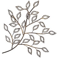 Diamente  Leaves  Metal  Art
