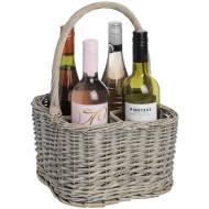Wicker 4 Bottle Wine Carrier
