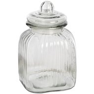 Medium  Square  Glass  Jar  With  Stopper