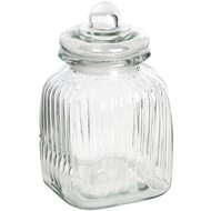Small  Square  Glass  Jar  With  Stopper
