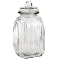 Large  Square  Glass  Jar  With  Stopper