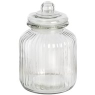 Round  Glass  Jar  With  Stopper