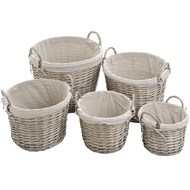 Set of 5 log baskets