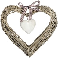 Large Wicker Heart Decoration