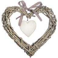 Small Wicker Heart Decoration