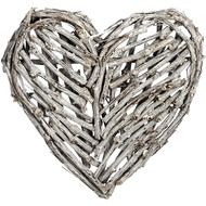 Antique  White  Medium  Heart