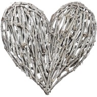 Antique  White  Large  Heart