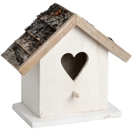 White  Heart  Bird  House
