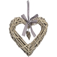 Wicker heart with small heart - small