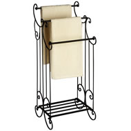 Black Elaborate Victorian Towel Rail