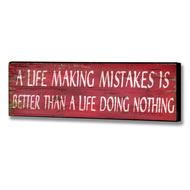A  Life  Mistake  Plaque