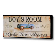 Boy's Room Plaque