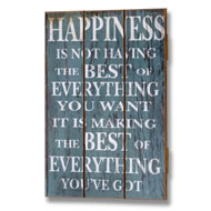 Happiness  Plank  Style  Plaque