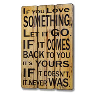 Let  It  Go  Plank  Style  Plaque