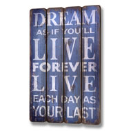 Dream Plank Style Plaque